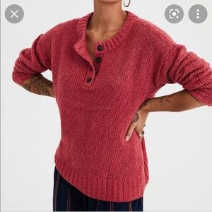 AMERICAN EAGLE Jegging Fit Henley Sweater XS